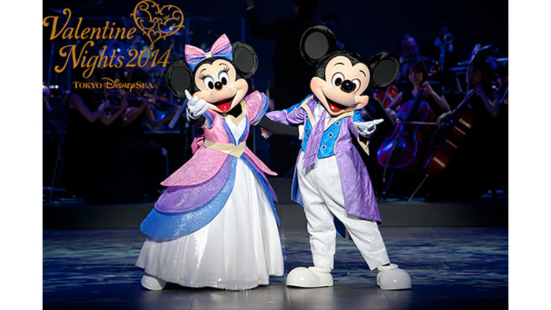 ディズニーの仲間たちとオーケストラの生演奏のショー「バレンタイン・ナイト2014」で、大切な人といっしょに過ごしませんか?のイメージ