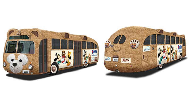 【広報リリース】東京ディズニーシーぬいぐるみ生地によるラッピングバス「ダッフィーバス」が誕生のイメージ