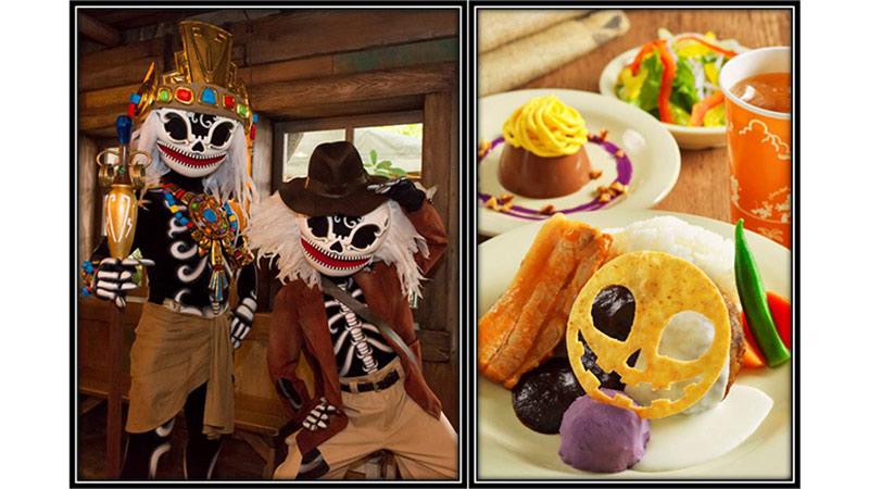 """スケルトンのストリートパーティー!""""コワ楽しい""""スペシャルメニューを食べながら盛り上がろう♪のイメージ"""