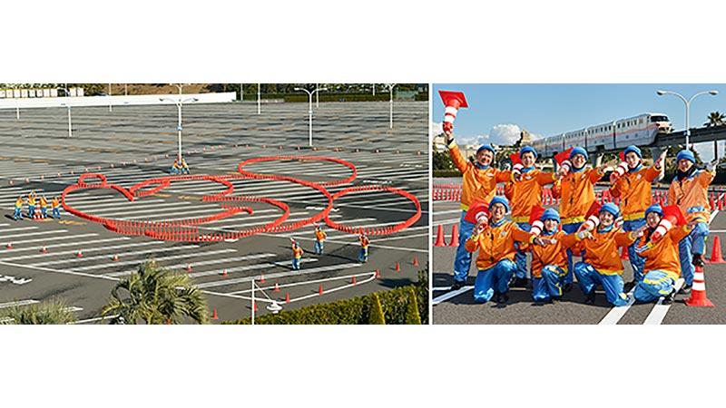 東京ディズニーリゾートの駐車場に巨大ミッキーマウスが登場!!のイメージ