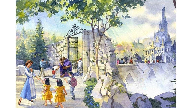 東京ディズニーランド、東京ディズニーシー今後の開発構想大規模開発エリアのテーマ方針を一部決定のイメージ