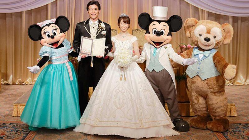 ディズニーホテルのウェディングに新しいディズニーの仲間が登場!のイメージ