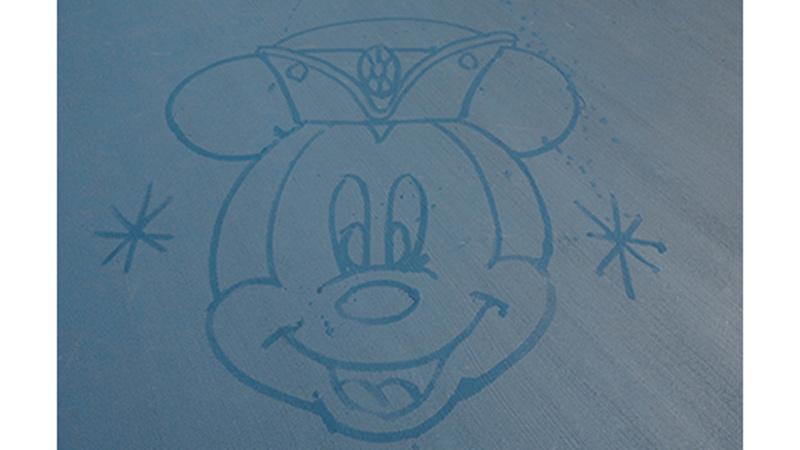 東京ディズニーシーでしか見ることができない、水で描くサプライズ☆のイメージ