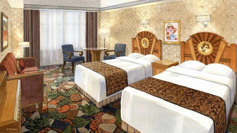 ディズニーアンバサダーホテルに、新たなディズニーキャラクターをテーマにした客室が登場!のイメージ