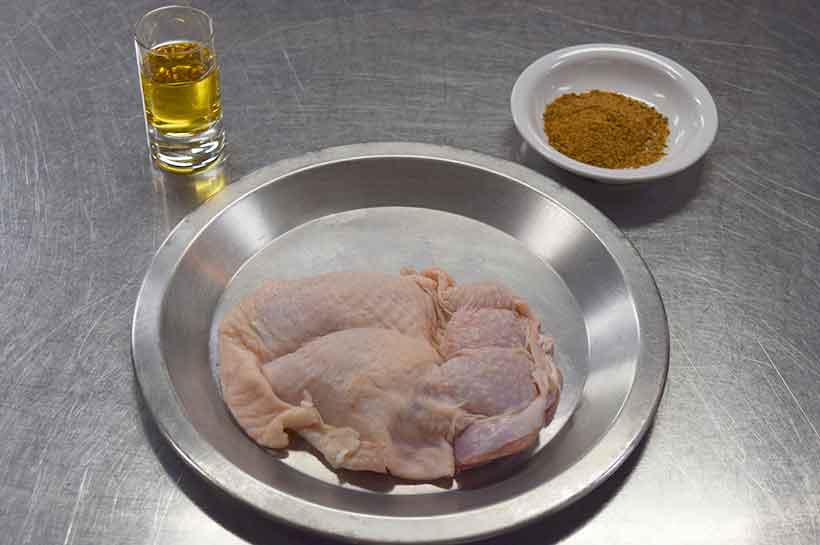 銘柄鶏のグリエ、クリームソース バーボンの香り