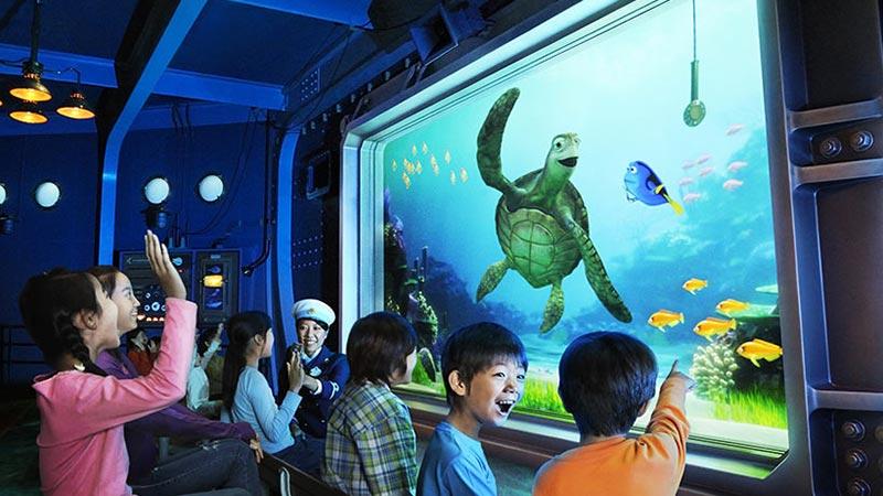 東京ディズニーシーのアトラクション「タートル・トーク」に、ディズニー/ピクサー映画『ファインディング・ドリー』のキャラクターが新登場 2017年5月12日(金)よりスタートのイメージ