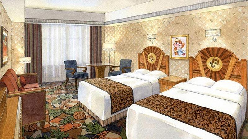 あなたはどっちのお部屋に泊まりたい?ディズニーアンバサダーホテルに「チップとデールルーム」、「スティッチルーム」が登場!のイメージ