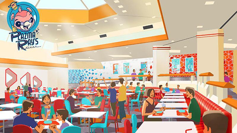 見た目にも楽しいメニューがいっぱい!東京ディズニーランド 新飲食施設「プラズマ・レイズ・ダイナー」オープン決定のイメージ