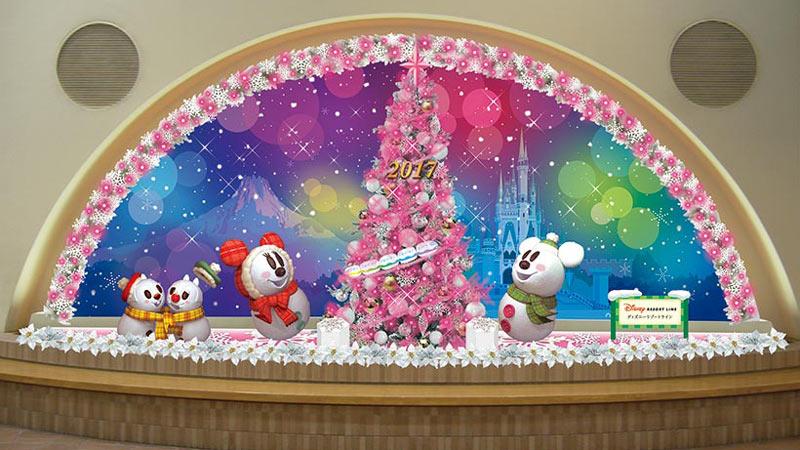 ディズニーリゾートラインであなたのクリスマスを輝かせよう!のイメージ
