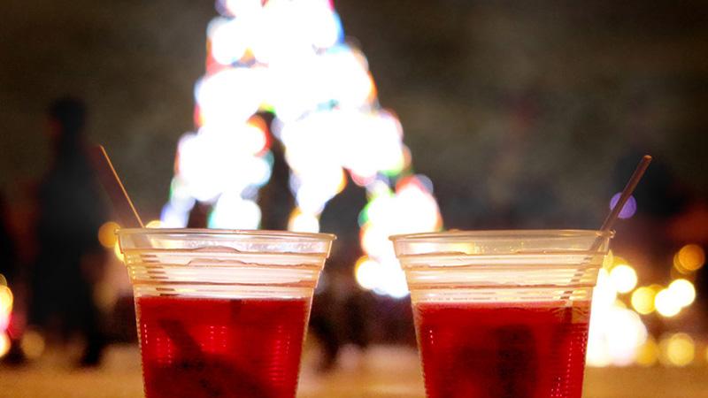 クリスマスイルミネーションはおいしいアルコールドリンクとともに♪のイメージ