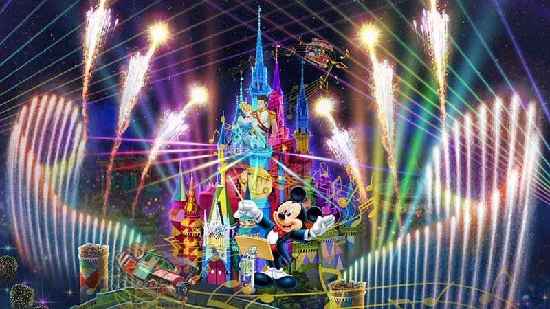 """東京ディズニーリゾート35周年""""Happiest Celebration!"""" 新しい夜のエンターテイメント「Celebrate! Tokyo Disneyland」が、7月10日(火)より いよいよスタートのイメージ"""