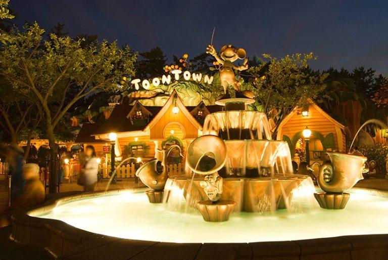 ミッキー噴水の画像