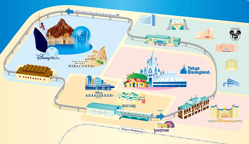 リゾートラインの地図の画像