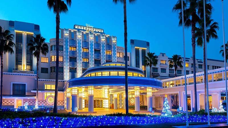 ディズニーホテルのクリスマスイルミネーション♪のイメージ