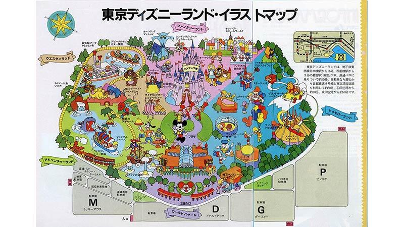 開園当時のマップをご紹介のイメージ