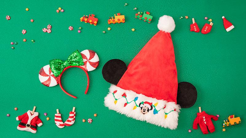 パークやおうちで大活躍!クリスマスシーンを彩るグッズのイメージ