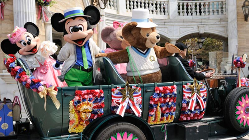 アメリカンウォーターフロントニューヨークの春-東京ディズニーシースペシャルイベント「ミッキーとダッフィーのスプリングヴォヤッジ」のイメージ