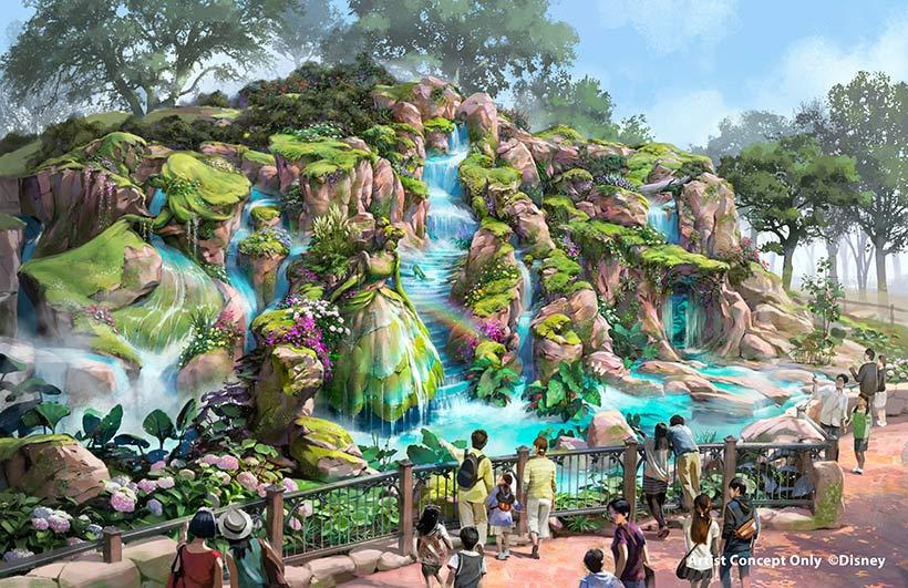 ファンタジースプリングス内の泉(昼)の画像