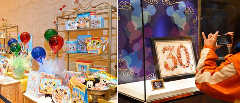 東京ディズニーリゾートの30周年情報やスペシャルグッズなどの展示