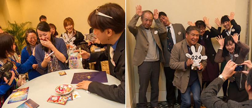 東京ディズニーリゾートのアーティストによるドローイング実演などのミニイベントの様子