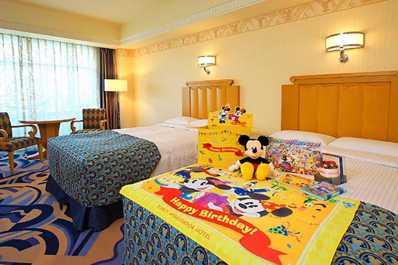 ディズニーアンバサダーホテル,オリジナルのデコレーションが施されたお部屋