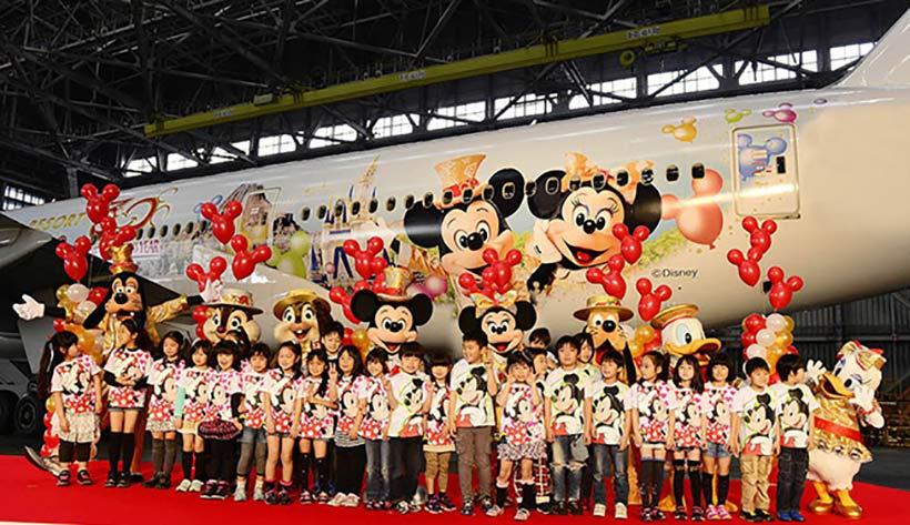 ミッキーマウス、ミニーマウス、ドナルドダック、グーフィー、プルートと子供たち