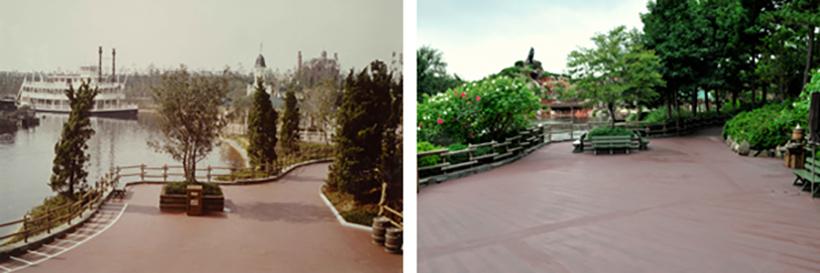 「トムソーヤ島いかだ」の乗り場の画像