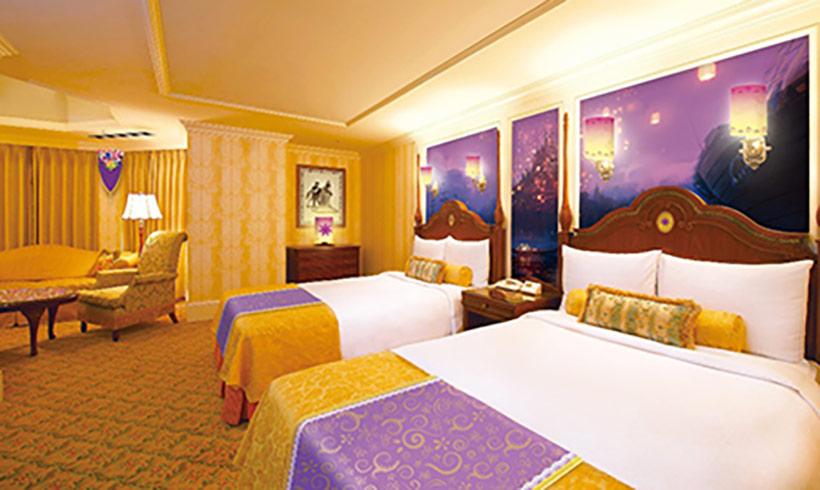 東京ディズニーランドホテルのディズニー映画『塔の上のラプンツェル』をテーマにした客室の画像