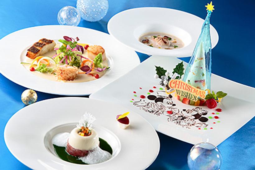 東京ディズニーシー・ホテルミラコスタのレストラン「オチェーアノ」のランチコースのクリスマスメニューの画像