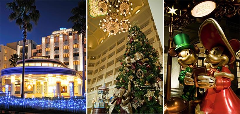 ディズニーホテルのクリスマスのデコレーションの画像