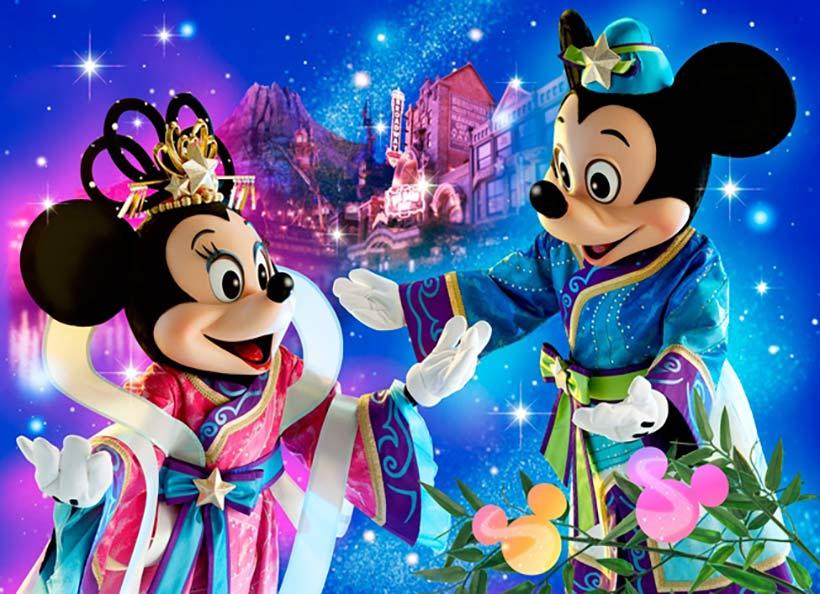 ディズニー七夕デイズ「七夕ウィッシング2014」のミッキーとミニーの画像