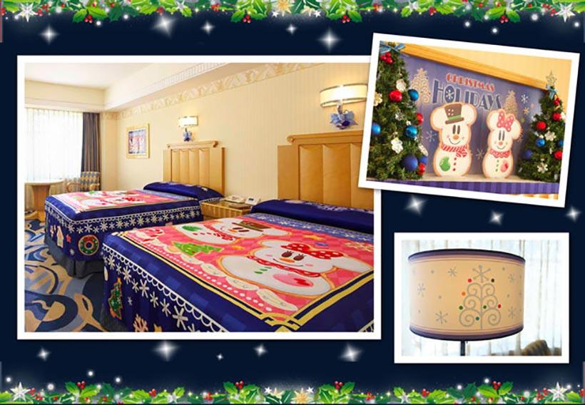 クリスマスデコレーションを満喫できるかわいい客室の画像