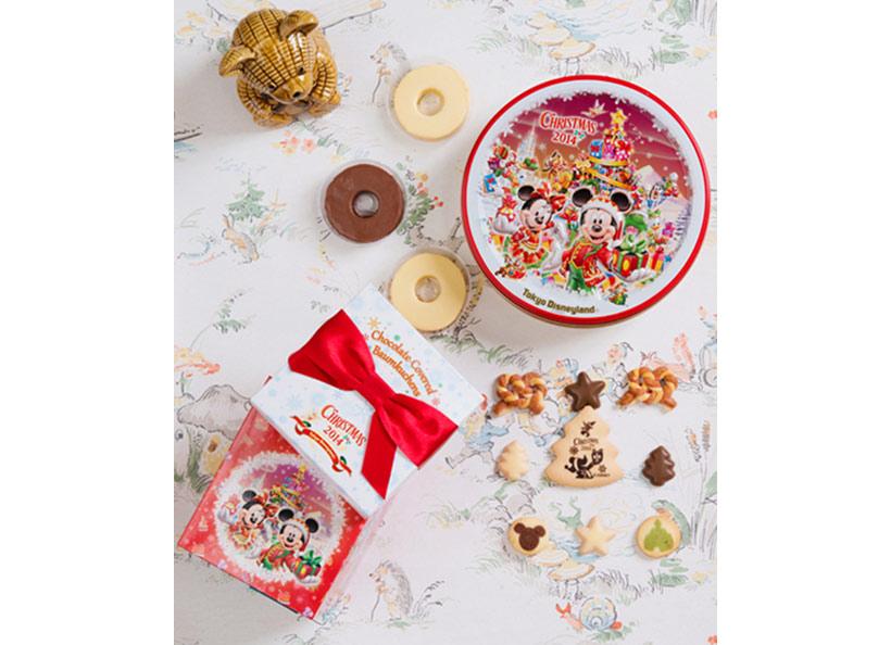 バウムクーヘンなどのお菓子の画像