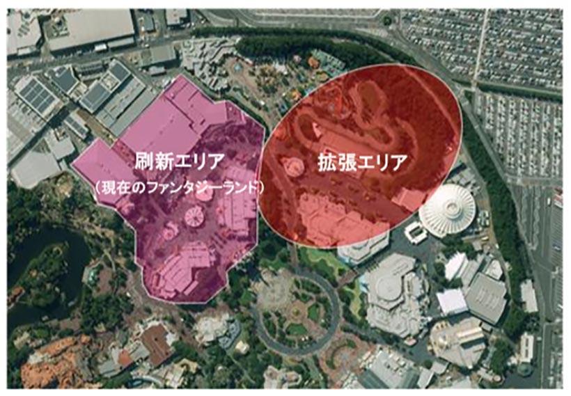 東京ディズニーランド「ファンタジーランドの再開発エリア」の画像
