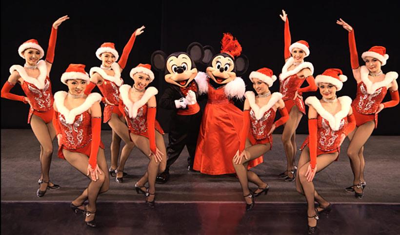 ミッキーとミニー、ダンサーたちの画像