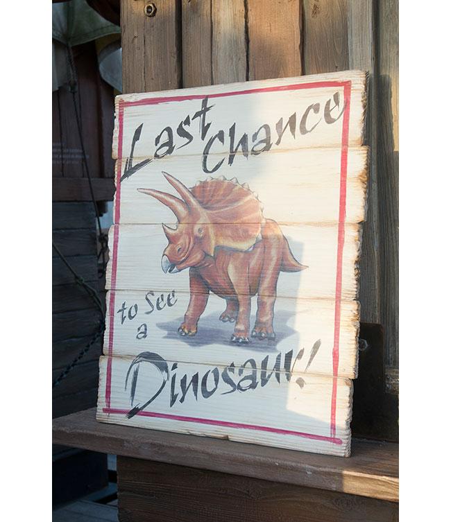 トリケラトプスが描かれた看板の画像