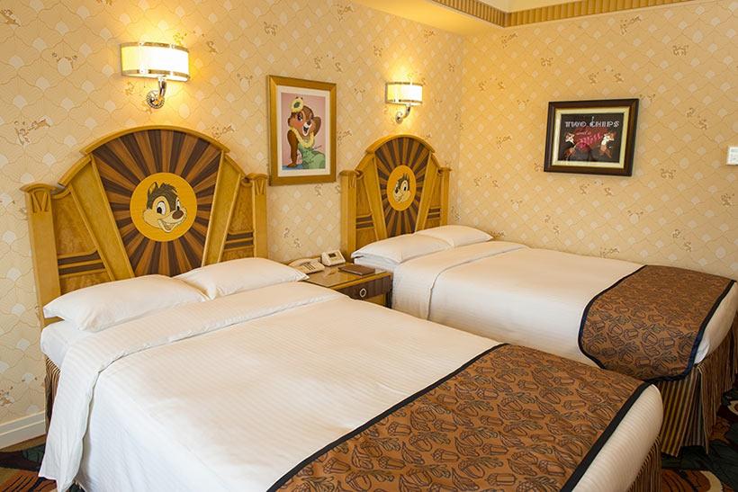 チップとデールルームのベッドの画像