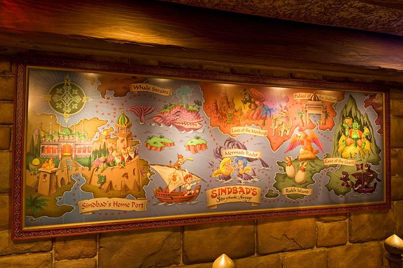 航路が描かれたイラスト画像