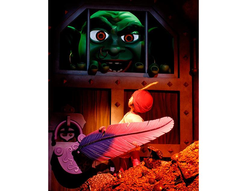 牢屋に閉じ込められている巨人を救い出すシーンの画像