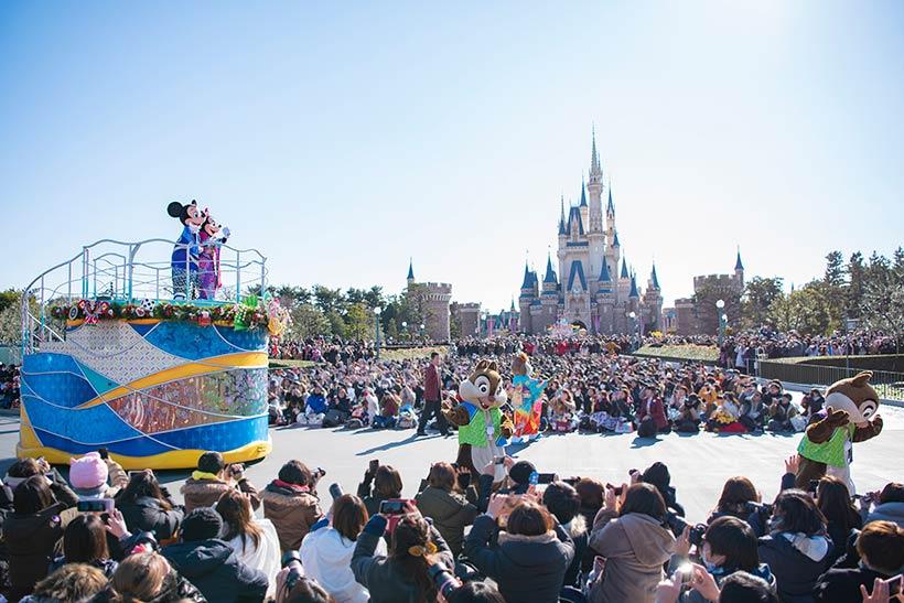 東京ディズニーランドのお正月パレードの画像