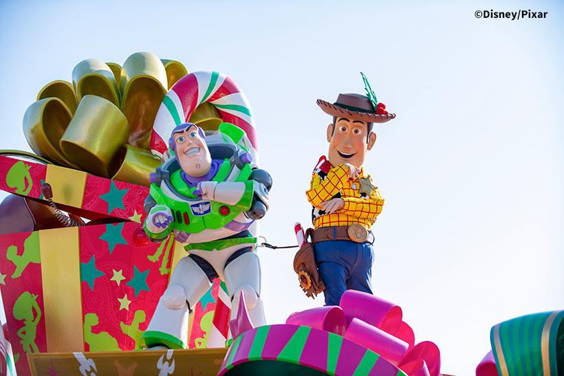 ディズニークリスマスストーリーズのウッディとバズの画像