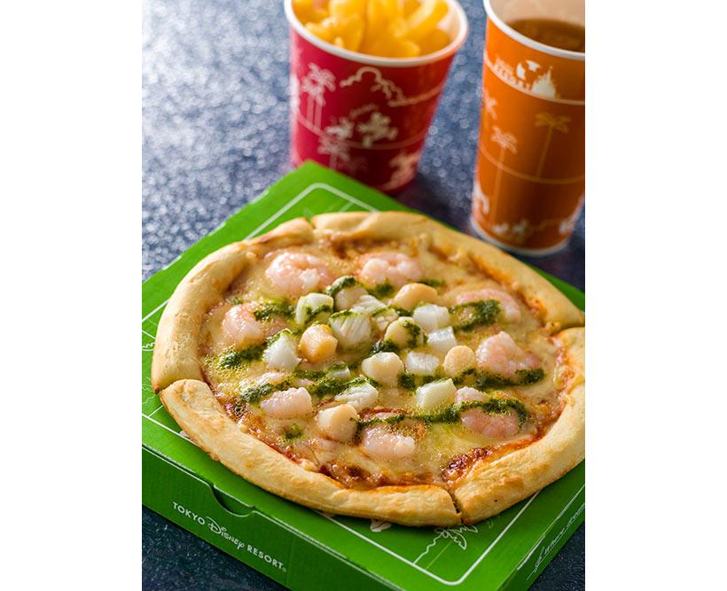 シーフードピザの画像