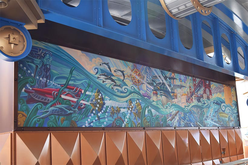 大きな壁画の画像