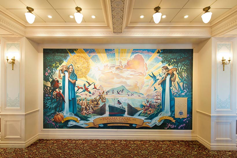 SSコロンビアダイニングルームの壁画