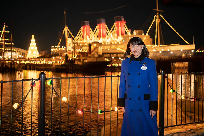 東京ディズニーシー背景の野口さんの画像