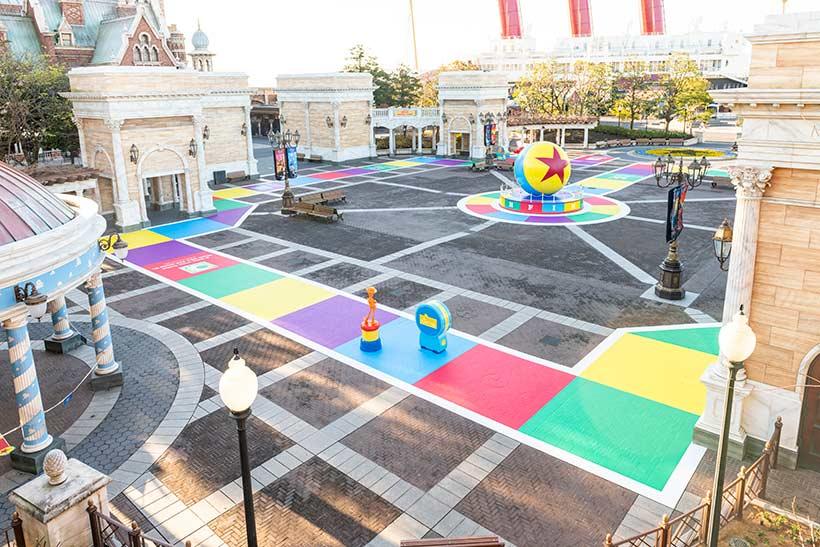 ウォーターフロントパークの床面画像