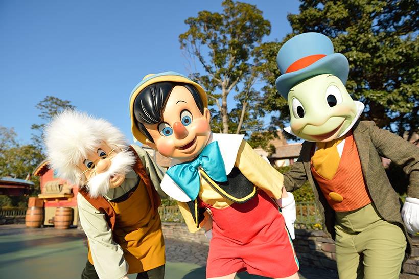 ピノキオ、ゼペットさん、ジミニークリケットの画像