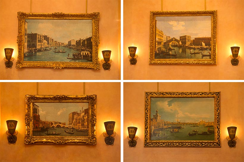 壁に飾られた絵画