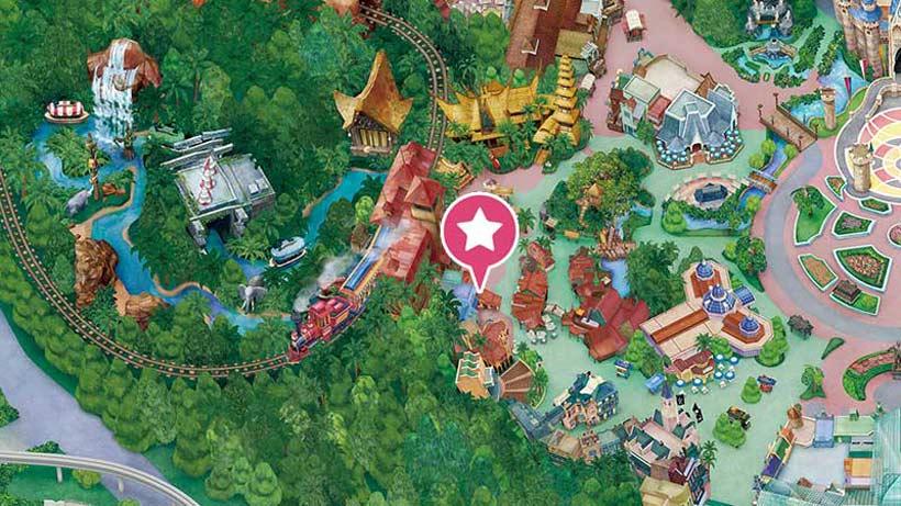 「アドベンチャーランド・バザール」付近のマップ