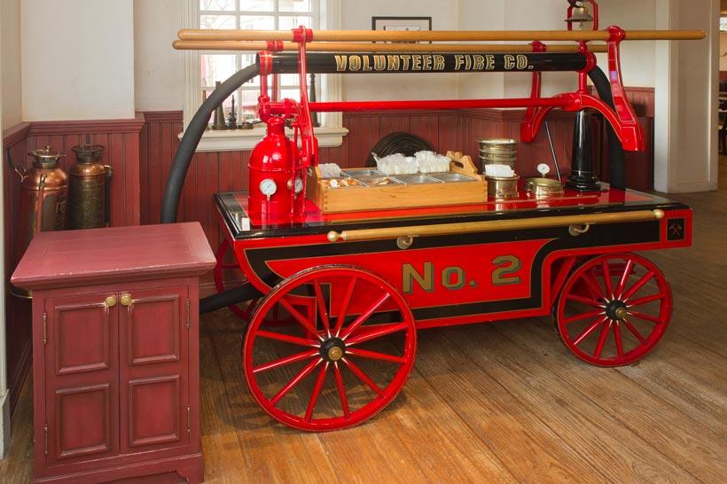 消防馬車のコンディメントバーの画像